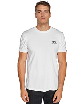 8d8e8f8d9 Alpha Industries Men T-Shirts Basic Small Logo: Amazon.co.uk: Clothing