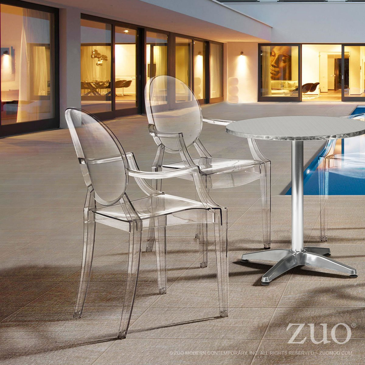 Zuo Anime Dining Chairs Set of 4 , Transparent