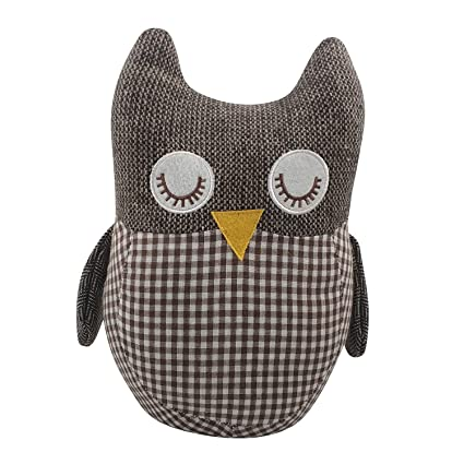 Amazoncom Fabric Animal Door Stopper Owl Lover Gifts Doorstops