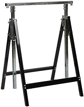 Nordlinger Pro 640023 1 Treteau Professionnel Pro En Kit Reglable En Hauteur Special Charges Lourdes Noir