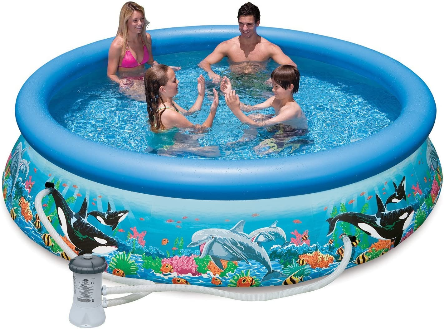 Intex Piscina Easy Océano con Bomba Filtro: Amazon.es: Jardín