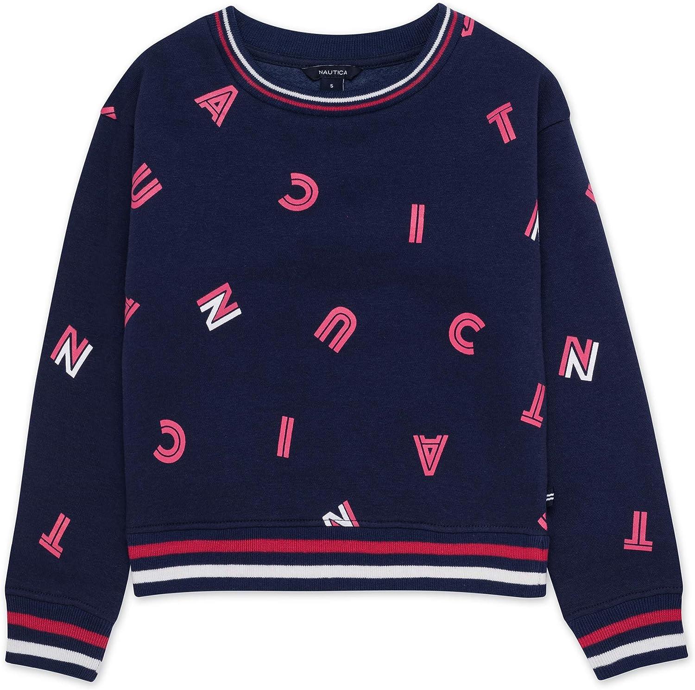 Nautica Girls Long Sleeve Fashion Sweatshirt
