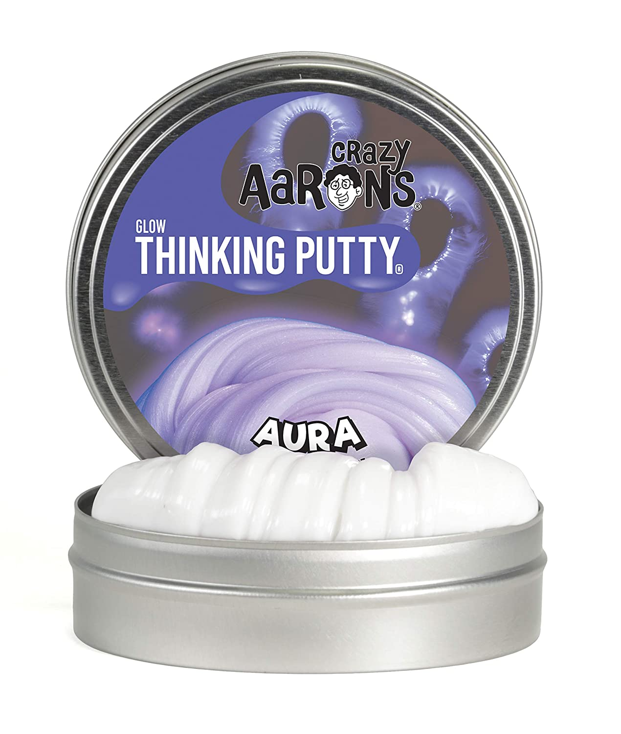 Includes 4 Aura Glow Crazy Aarons Thinking Putty 3 Tin Value Pack 2 Spring Showers Sparkle and Spring Showers Sparkle Putties