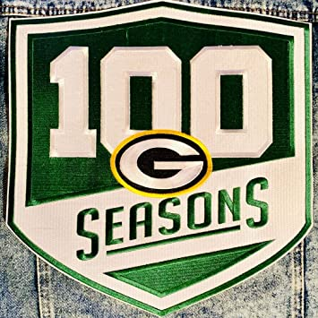 Image Unavailable. Image not available for. Color  Football Packers 100  Seasons Jacket Patch 100th Season Limited Edition b7fb56895