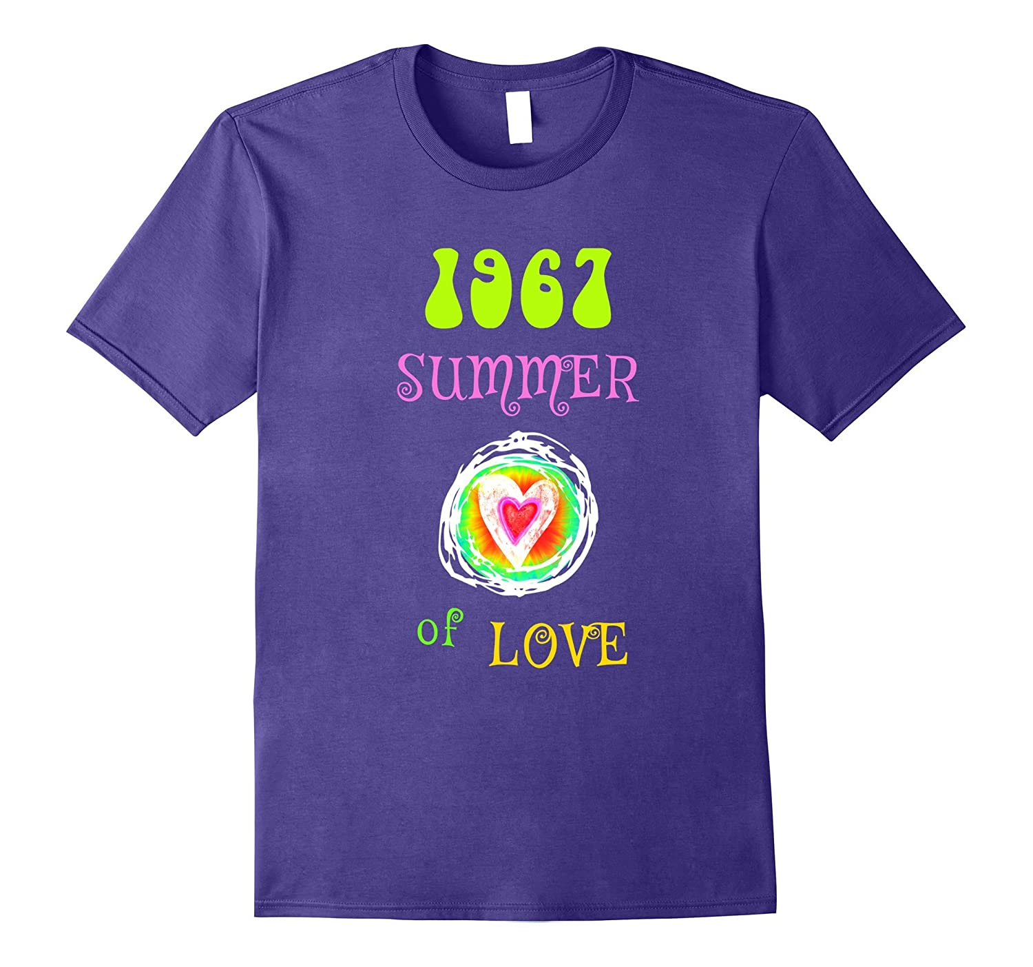 1967 Summer of Love Hippie Heart T-shirt-TH
