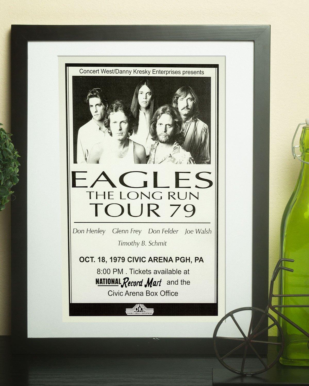 Amazon.com: The Eagles Long Run Tour 1979 Retro Art Print - Poster ...