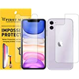 First MART Screen Protector iPhone 11- Front and Back Guard Hammer Proof Impossible Fiber Film Full Flat Screen Tempered Glass Scratch Resistant Precisely Engineered - Upgraded Version