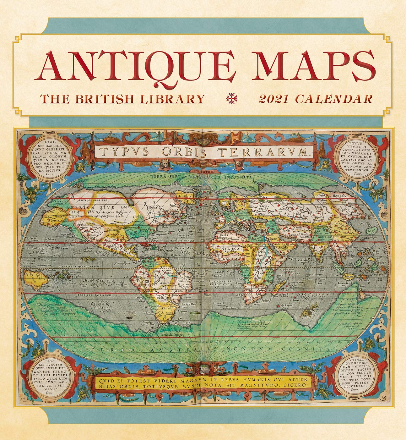 Antique Maps 2021 Wall Calendar: The British Library, Pomegranate
