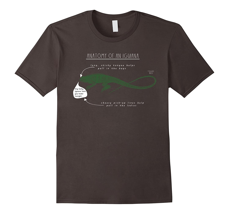 Amazon.com: Anatomy of an Iguana Funny Lizard Pick Up Lines T-Shirt ...