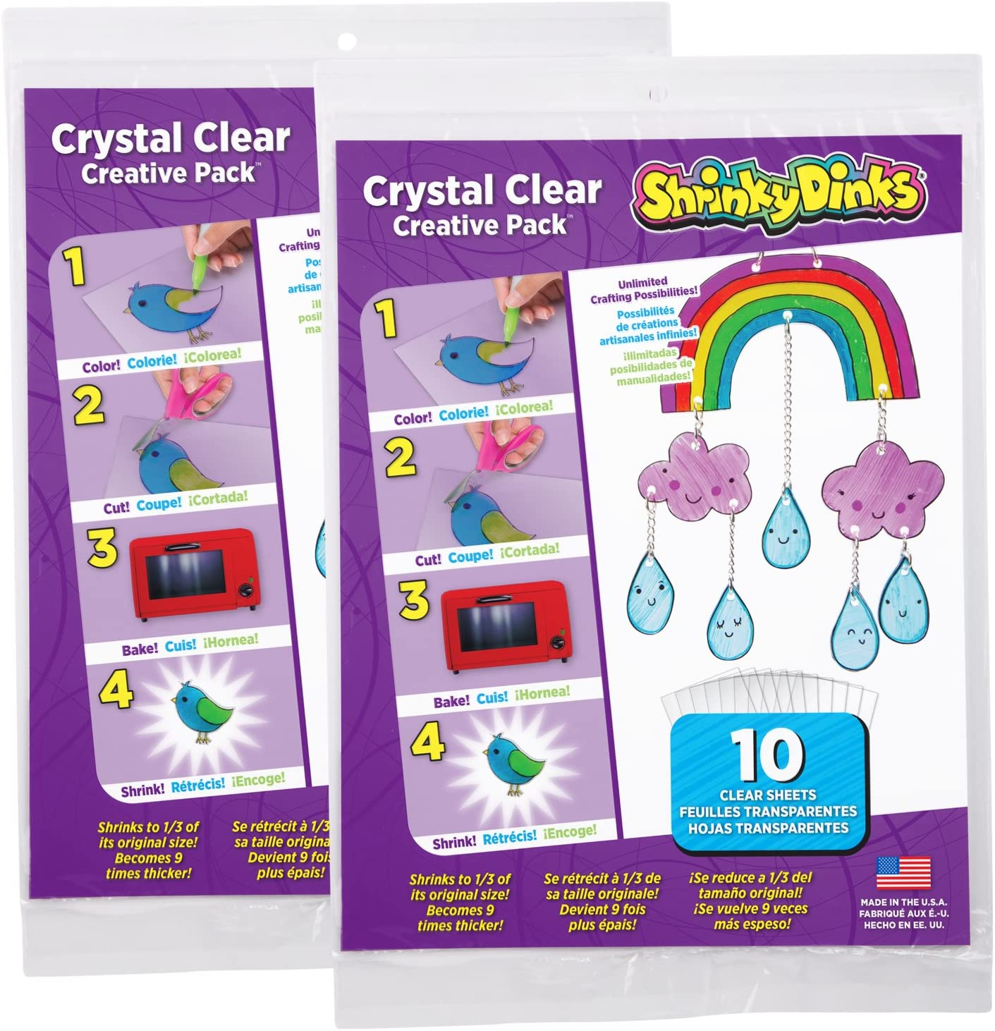 Shrinky Dinks Creative Pack 20 Sheets Crystal Clear