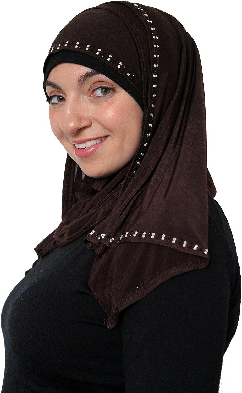 1-piece Amira Hijab Jersey with Jewels