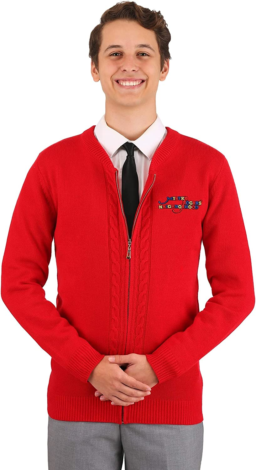 Amazon Com Men S Mister Rogers Sweater Costume Clothing