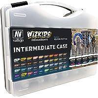 Acrylicos Vallejo Wizkids Paint Intermediate Case 40 Piece Set