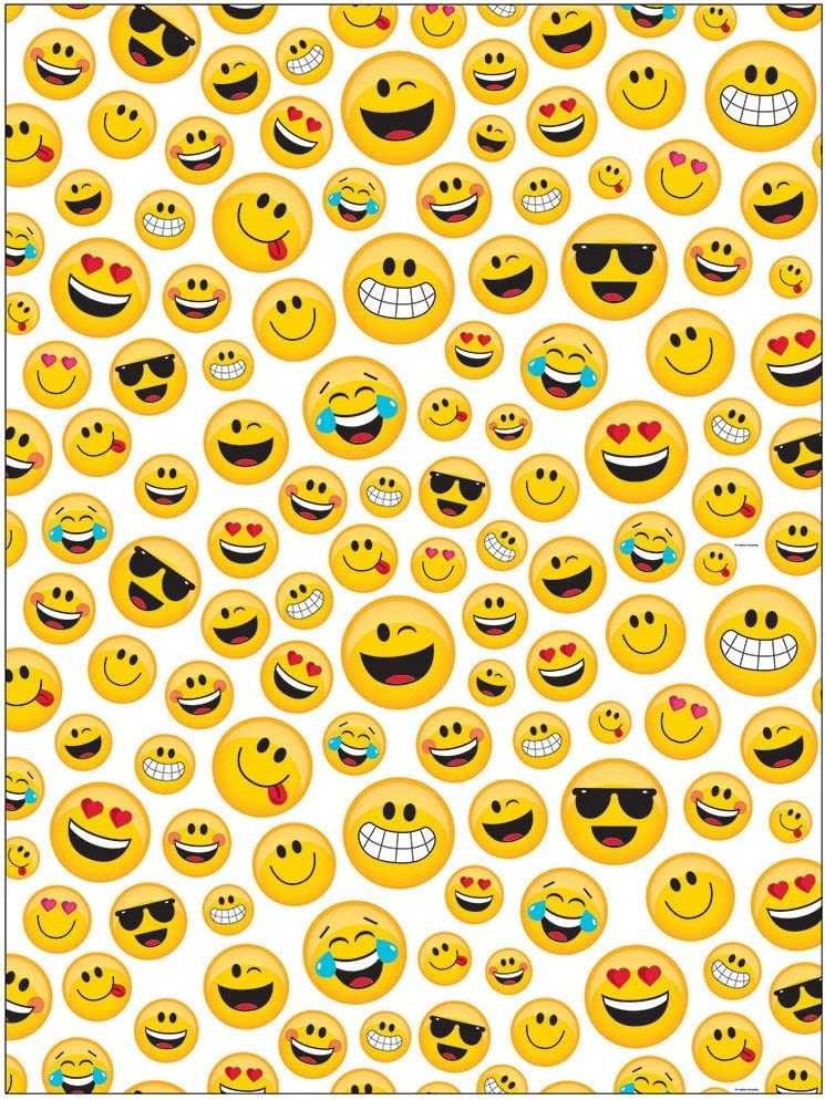 Creative Converting Show Your Emojions Plastic Photo Backdrop, 72 x 54-, Multicolor
