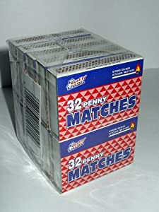 10 Boxes - Wooden Kitchen Matches, Strike On Box type
