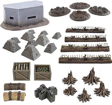 War World Gaming World at War - Sistema de Trincheras - Accesorios en Resina - 28mm, WW1, Wargames, Miniaturas, Escenografía, Gran Guerra, Contienda Militar: Amazon.es: Juguetes y juegos