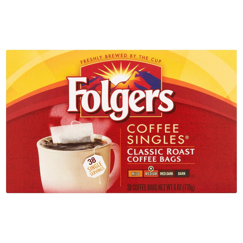 Paquete de 4 – Folgers Coffee Singles Classic Roast bolsas ...
