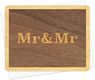 product image for Mr. and Mr. Wood Congratulations Card by Night Owl Paper Goods