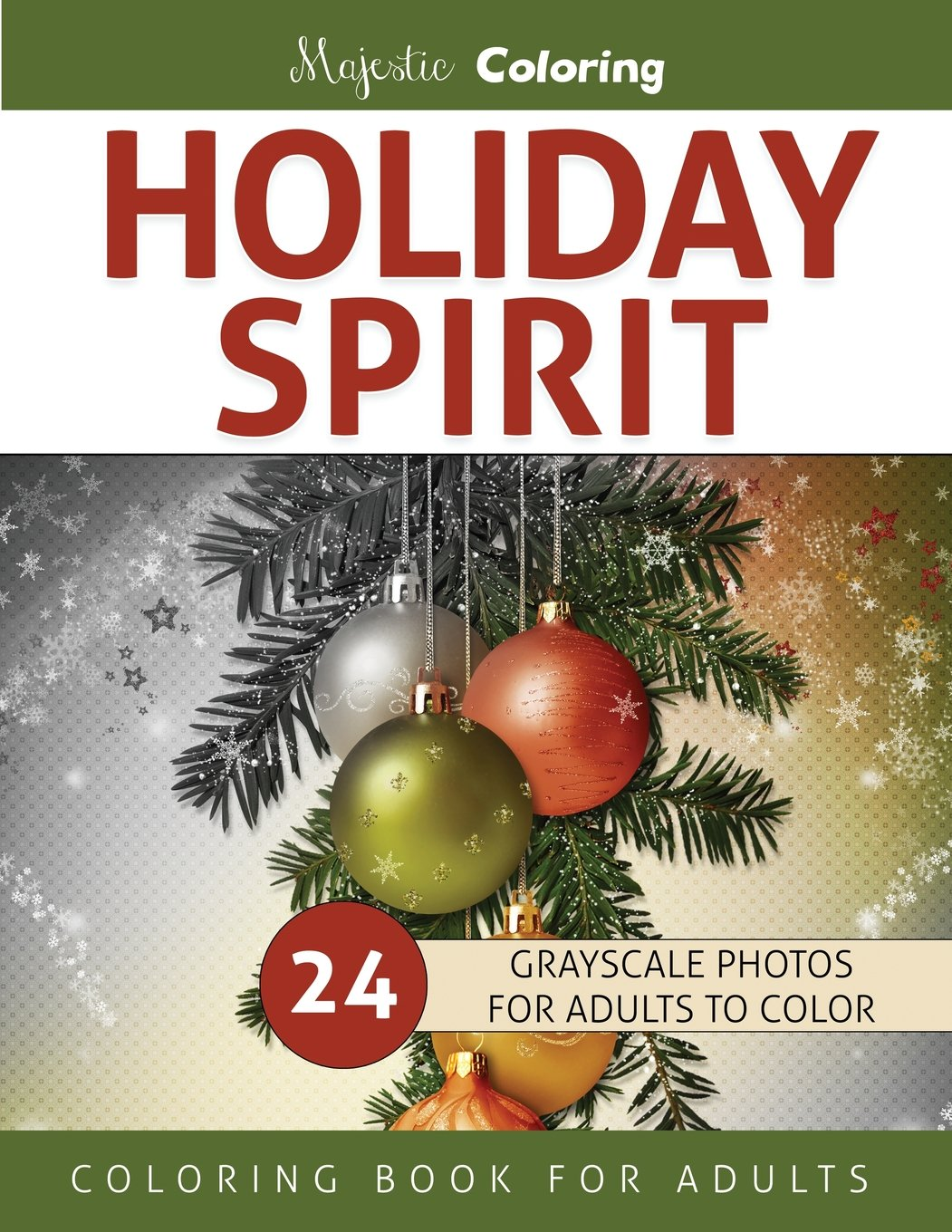 Amazon.com: Holiday Spirit: Grayscale Coloring Book for ...