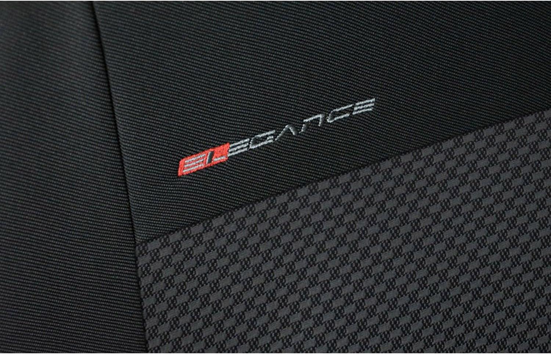 Sitzbez/üge Autositzbezug Komplettset Universal Grau,Elegancemit Hyundai ix20 Front 1+1