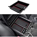 JDMCAR Compatible with Center Console Organizer Tacoma Accessories 2021 2020 2019 2018 2017 2016 - (Red Trim)