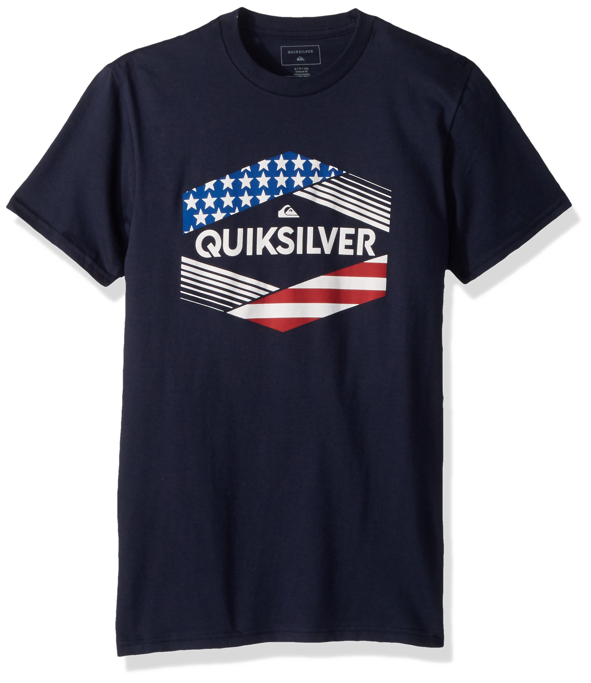 Quiksilver Men's Stars and Stripes Tee, Navy Blazer, L