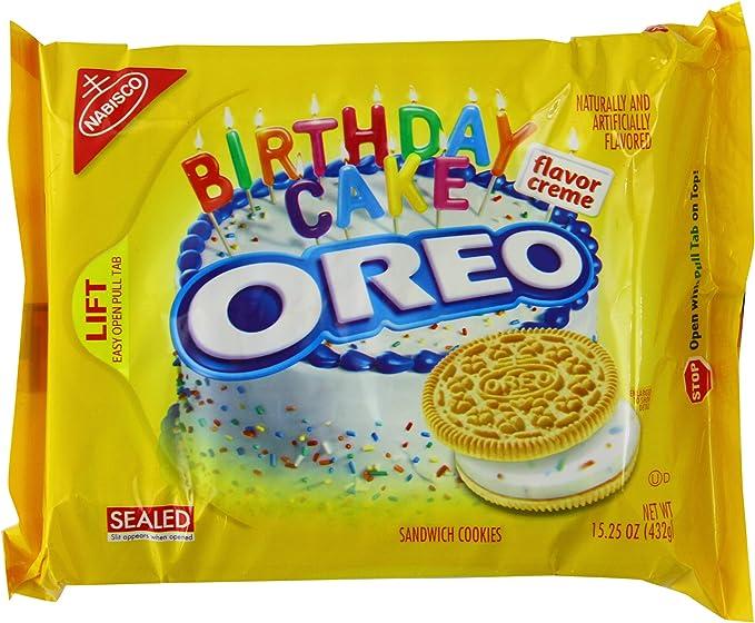 Cool Oreo Golden Birthday Cake 15 25Oz 432G Amazon Co Uk Grocery Funny Birthday Cards Online Elaedamsfinfo