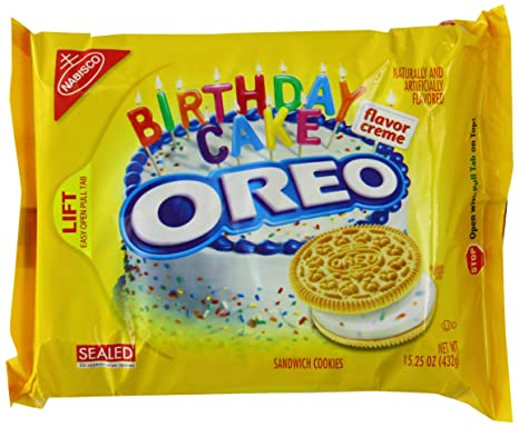 Oreo Golden Birthday Cake 1525oz 432g Amazoncouk Grocery
