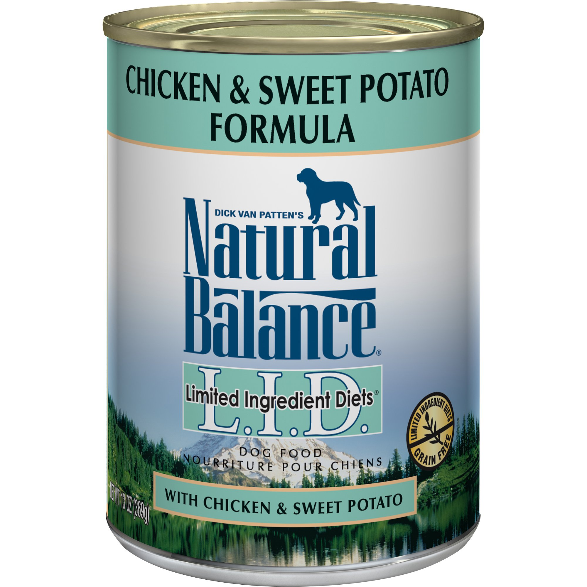 Natural Balance L.I.D. Limited Ingredient Diets Canned Wet Dog Food, Grain Free, Chicken and Sweet Potato Formula, 13-Ounce (Pack of 12)