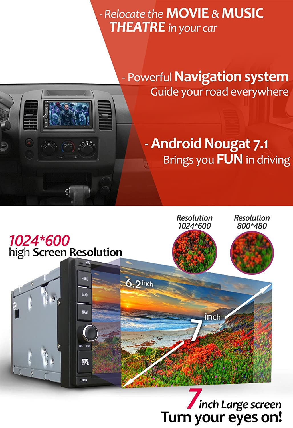 Android 7 Car Stereo Radio Corehan Inch Double Din In Dash Video Player Navigator With Bluetooth Wifi Gps Navigation System Your Diagram Page 9 Audio Diymobileaudiocom