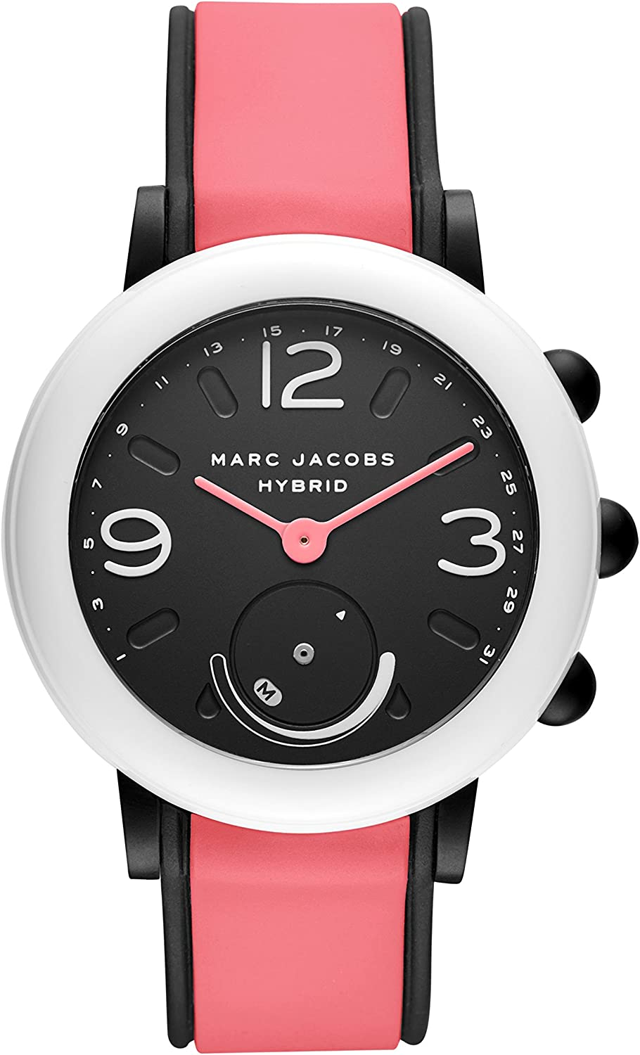 Marc Jacobs Women S Riley Hybrid Silicone Strap Pink 20 Casual Watch Model Mjt1009 Watches