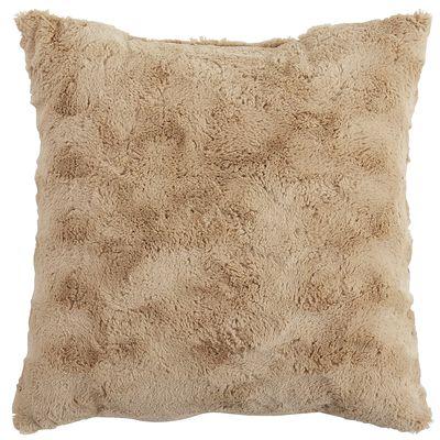 Fuzzy Pillow - Tan | Pier 1 Imports