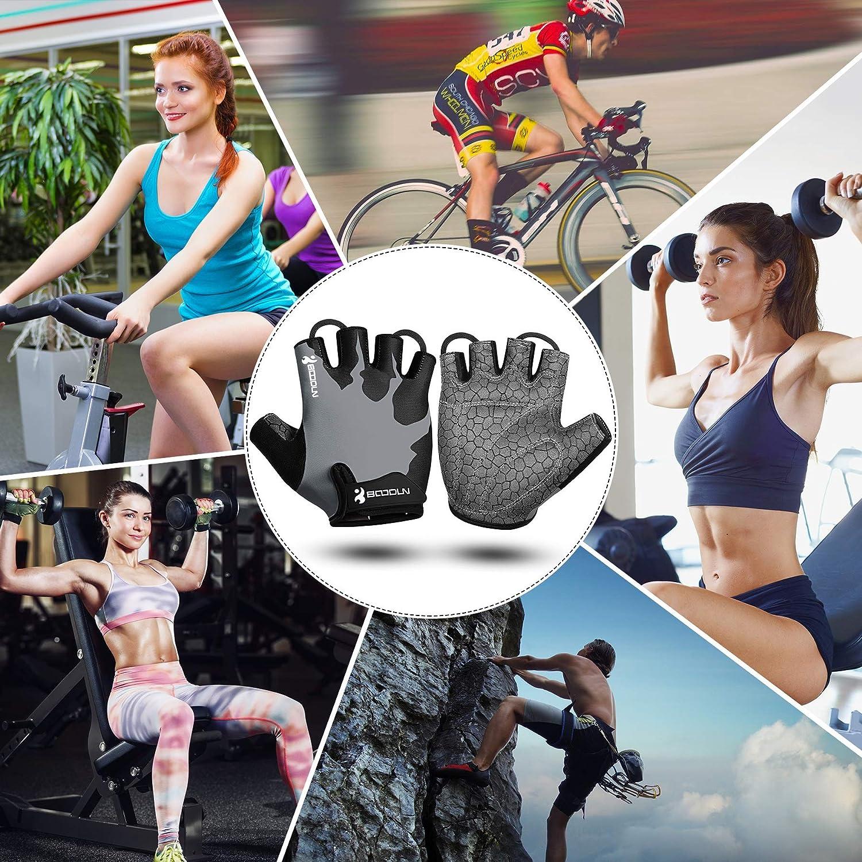 KONVINIT Mitaine/Homme Gant VTT Femme et Homme Gants Cyclisme v/élo en Demi Doigts Rembourr/és Anti-d/érapant Les Gants Sport