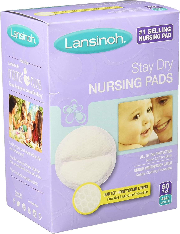 60 PADS EACH 2 PACKS OF LANSINOH NURSING PADS STAY DRY UNIQUE WATERPROOF LAYER