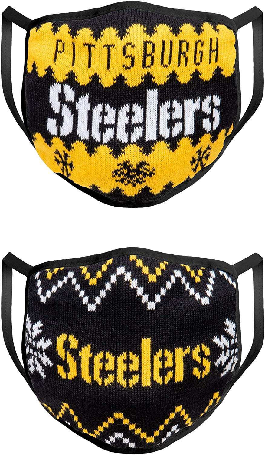 FOCO NFL Mens Knit Face Cover - 2 Pack