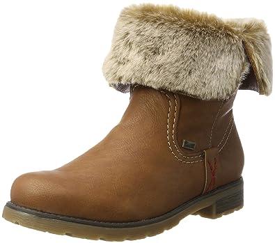 Amazon.com   Rieker Damen-Stiefelette Braun 961824-2   Loafers ... 702a02c4ce