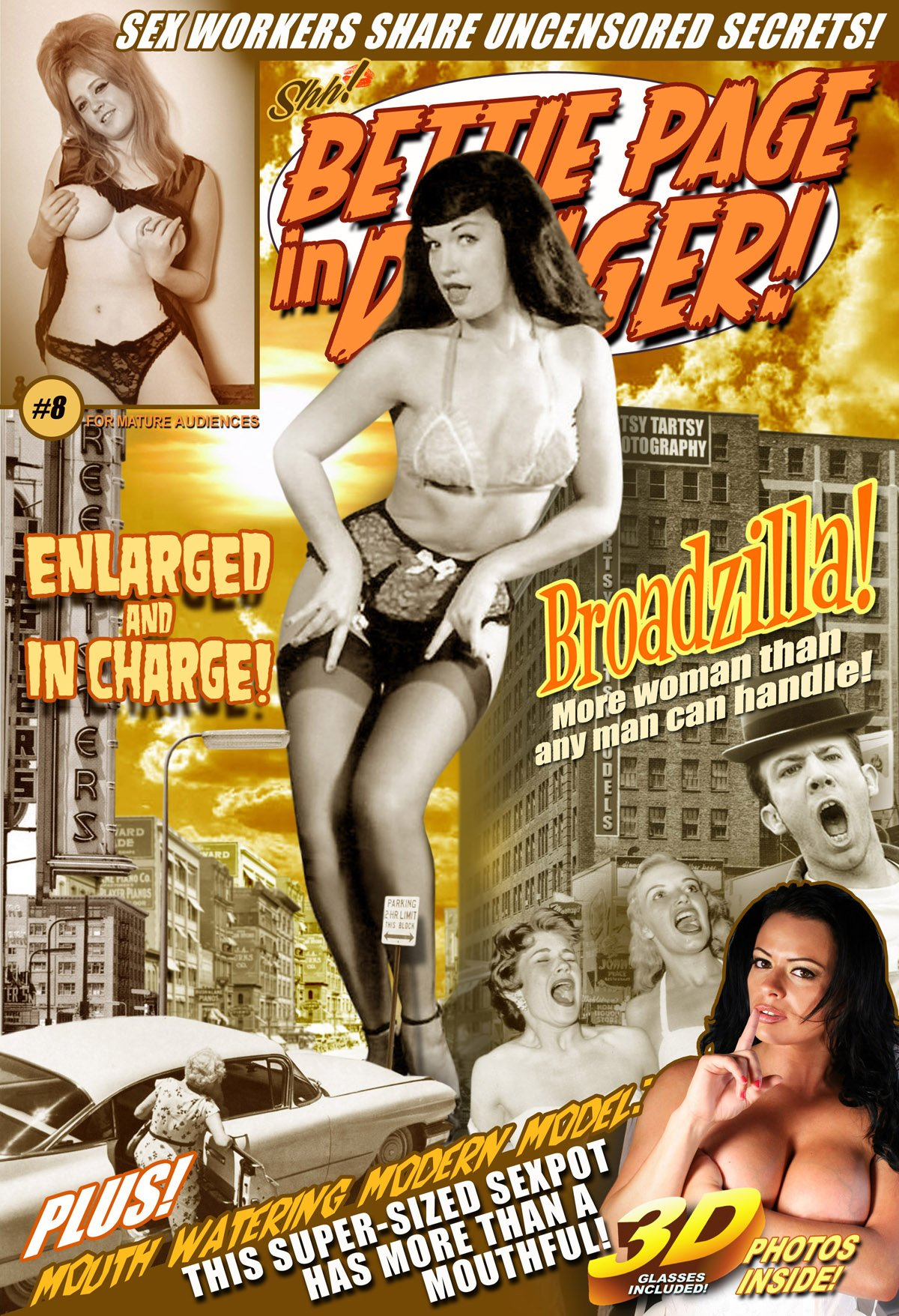 Read Online Bettie Page In Danger! #8 Enlarged And In Charge! 3-D Photo Comic pdf epub