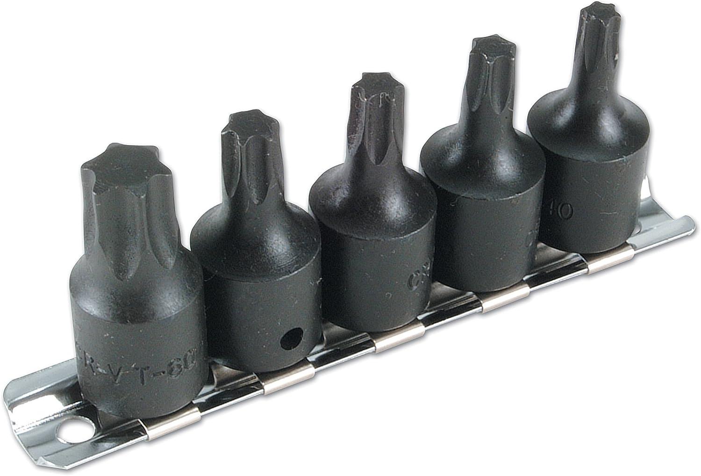 Laser 2983 Lot de 5 embouts Torx 3//8D pour visseuse /à percussion