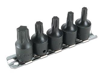 Laser 2983 - Juego de puntas Torx para destornillador de impacto (3/8