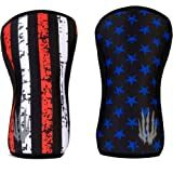 Bear KompleX Knee Sleeves (SOLD AS A PAIR of 2) for Cross training, weightlifting, wrestling, basketball, squats, and more. Compression sleeves come in 5mm and 7mm thickness and multiple colors