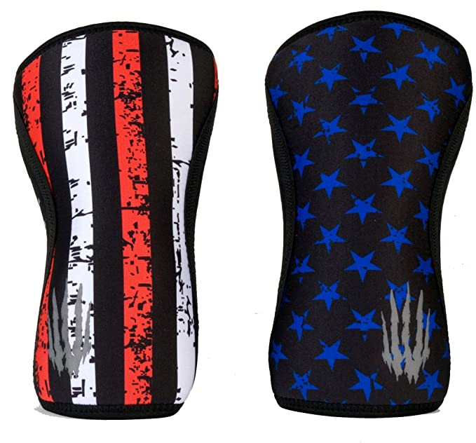 Bear Komple X Knee Sleeves (Sold As A Pair Of 2) For Cross Training, Weightlifting, Wrestling, Basketball, Squats, And More. Compression Sleeves Come In 5mm And 7mm Thickness And Multiple Colors by Bear Komple X