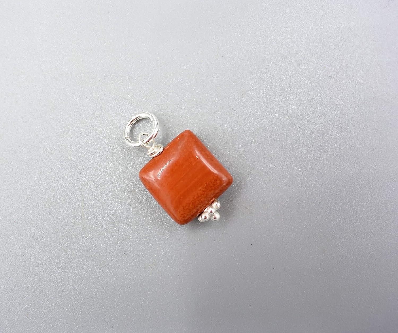 Roter Jaspis Anhä nger - Edelstein Anhä nger - Damen Kettenanhä nger - 925 Silber