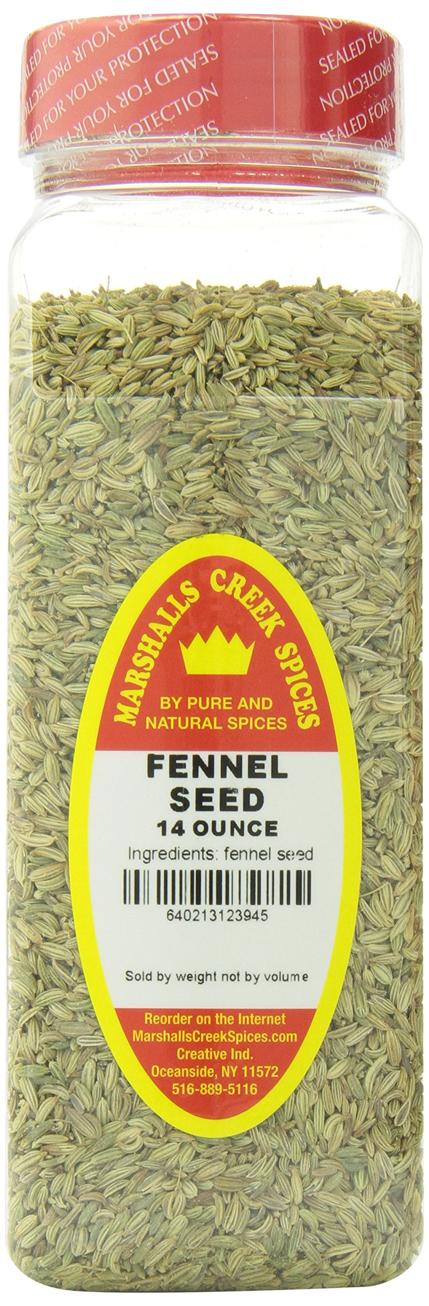 Marshalls Creek Spices Seasoning, Fennel Seed, XL Size, 14 Ounce