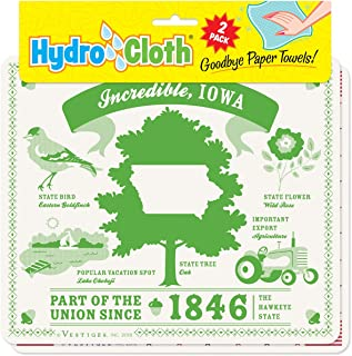 product image for Fiddler's Elbow Incredible, Iowa Hydro Cloth | Eco-Friendly Sponge Cloths | Reusable Swedish Dish Cloths | Set of 2 Printed Sponge Cloths | Replaces 30 Rolls of Paper Towels