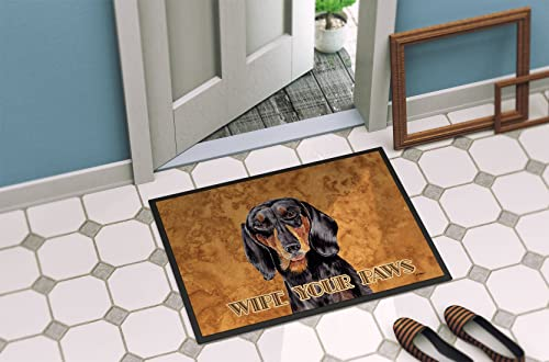 Caroline s Treasures SC9139JMAT Dachshund Indoor or Outdoor Mat 24×36 Doormat, 24H X 36W, Multicolor
