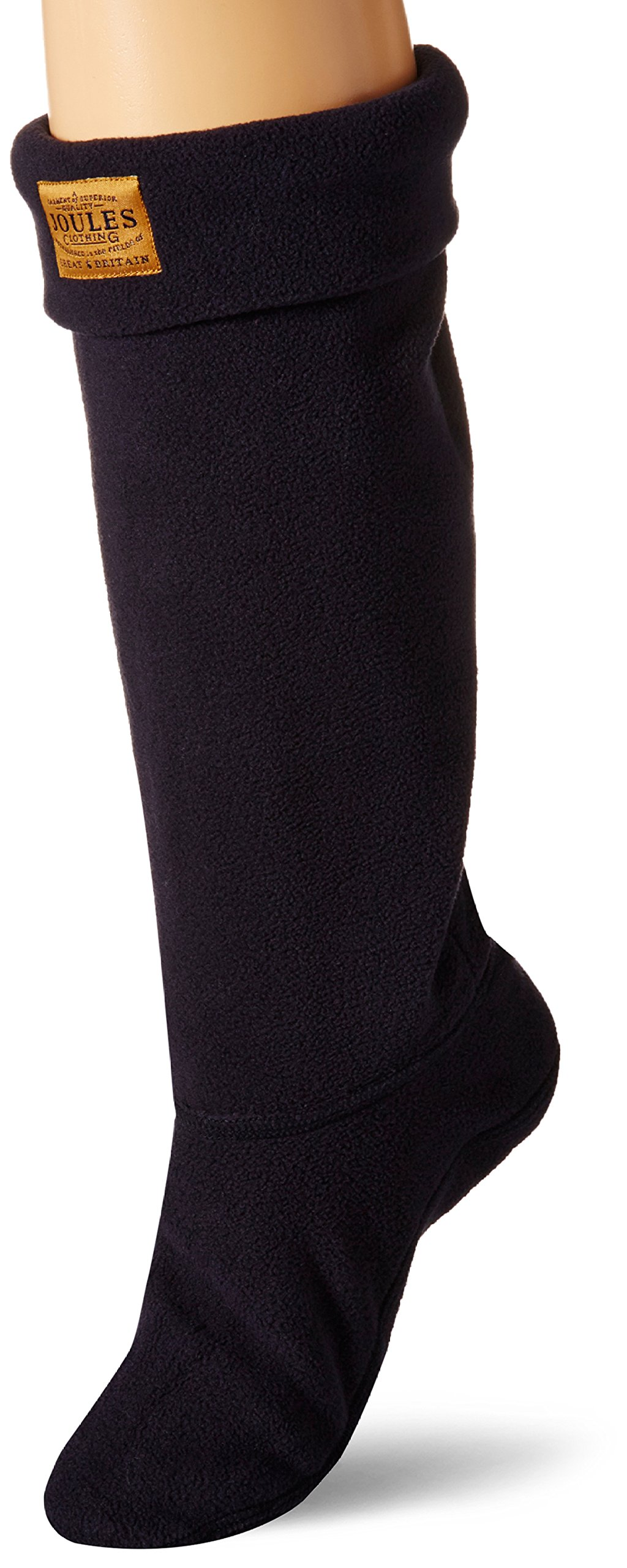 Joules Women's Welton Rain Boot Socks, Marine Navy, Medium
