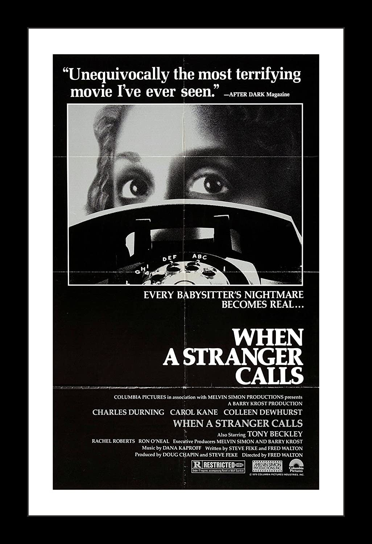 los angeles 105e9 bd70e Amazon.com: Wallspace When A Stranger Calls - 11x17 Framed ...