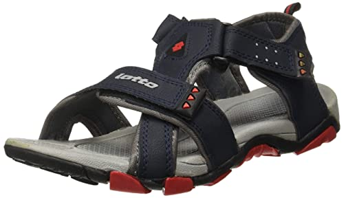03a6bf211f3733 Lotto Men s Navy Red Sandals and Floaters  Buy Online at Low Prices ...