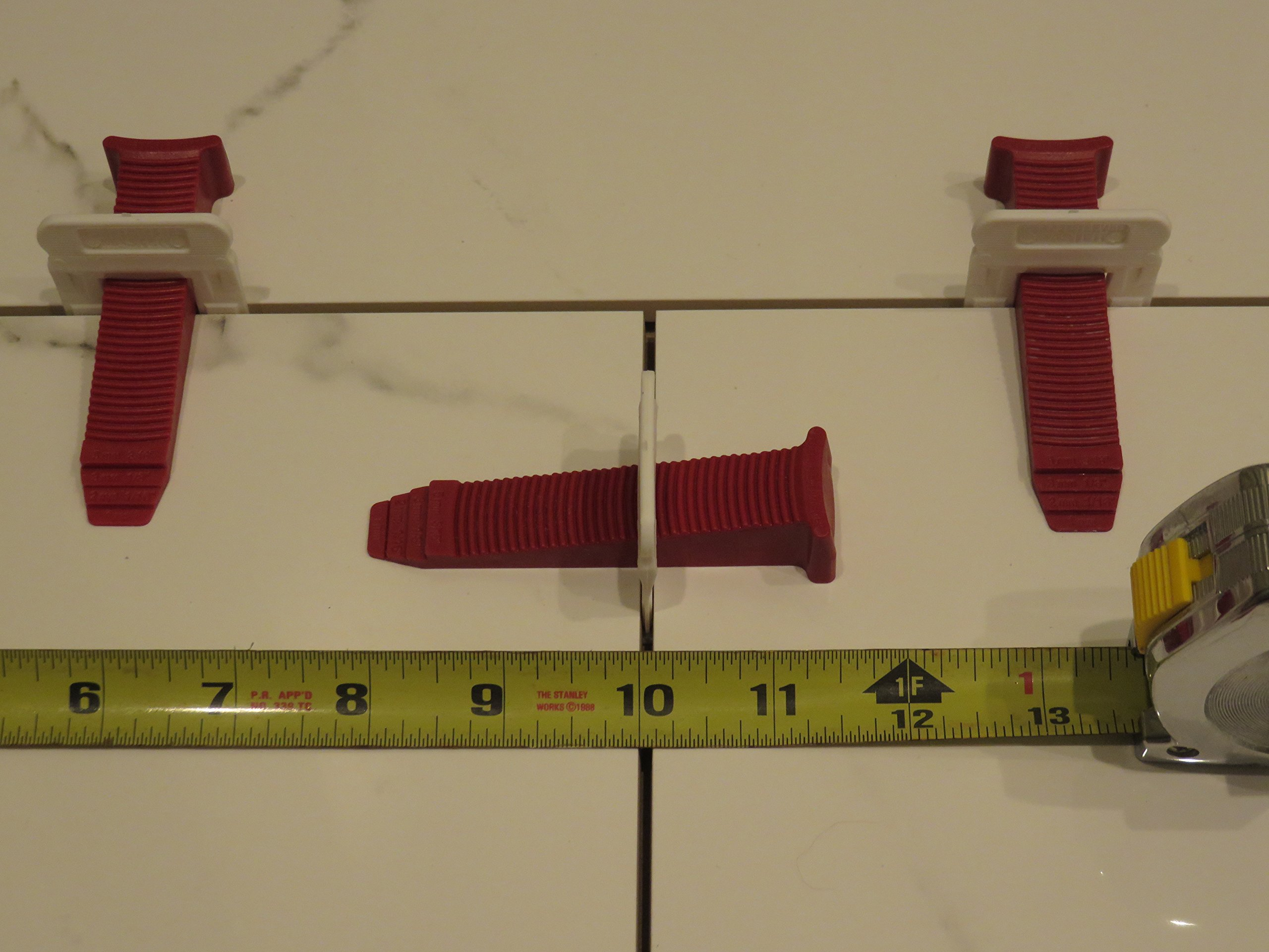 T-Lock ™ 1/16'' (2mm) 100 Clips '' PERFECT LEVEL MASTER ™ Professional '' Anti lippage '' Tile leveling system - (spacers only), Red wedges not included and sold separately! by Perfect Level Master ™ (Image #5)