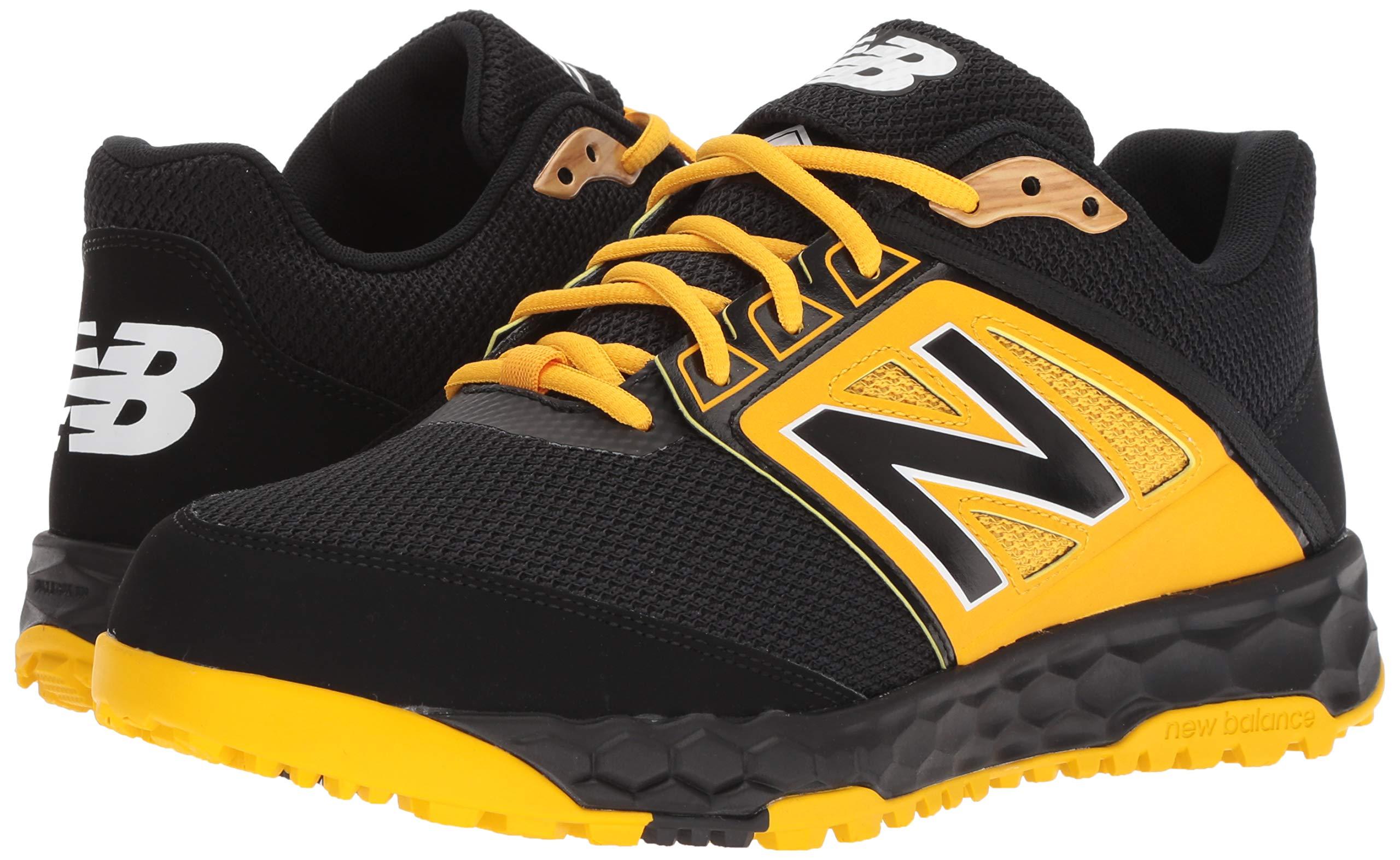 New Balance Men's 3000v4 Turf Baseball Shoe, Black/Yellow, 5 D US by New Balance (Image #6)